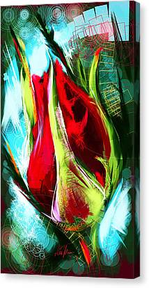 Birth Of A New Rose Canvas Print