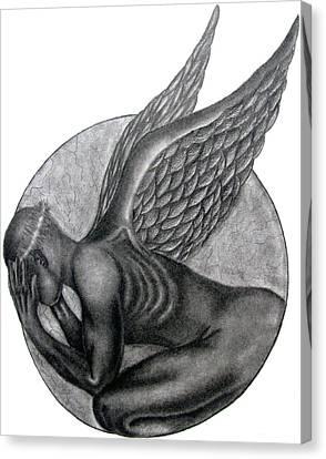 Birth Of An Angel Canvas Print by Patrick Carrington