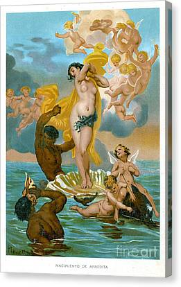 Birth Of Aphrodite-1891 Lithograph Canvas Print