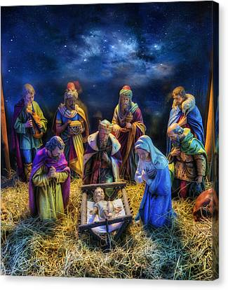 Birth Of Jesus Canvas Print by Ian Mitchell