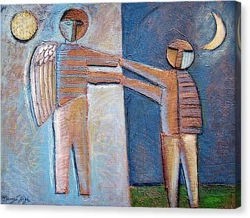Cardboard Canvas Print - Birth Of Man by Gerry High