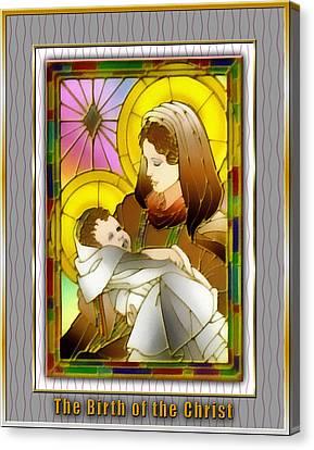 Birth Of The Christ Canvas Print