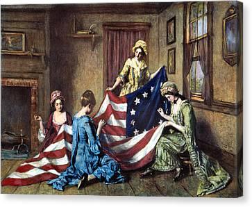 Birth Of The Flag Canvas Print