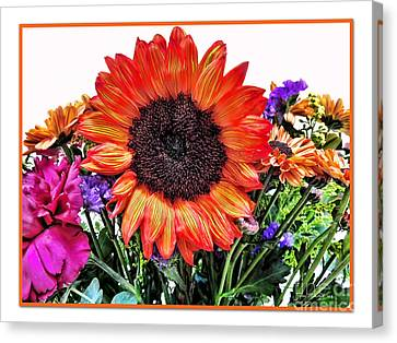 Birthday Bouquet Canvas Print by Joan  Minchak