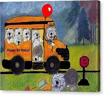 Birthday Bus Canvas Print