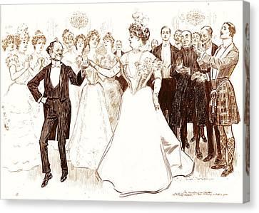 Birthday Dance 1899 Canvas Print