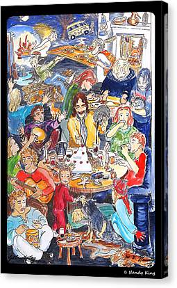 Birthday Canvas Print by Nandy King