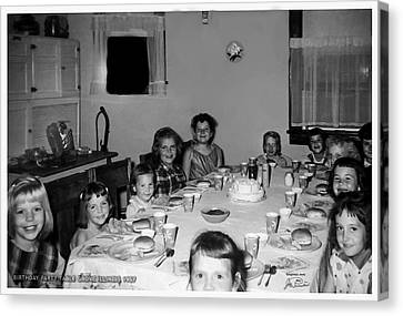 Birthday Party Table Grove Illinois 1957 Canvas Print