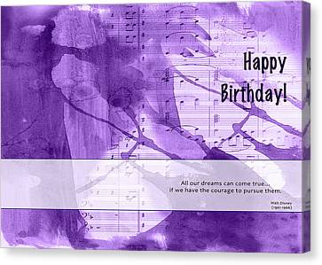 Birthday Quote 1 Canvas Print