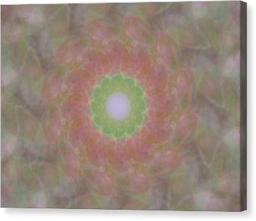 Birthing Mandala 1 Canvas Print by Rhonda Barrett