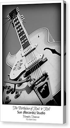 Memphis Recordings Canvas Print - Birthplace Of Rock N Roll by Stephen Stookey