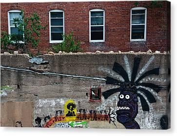 Bisbee Arizona Graffiti Canvas Print by Dave Dilli