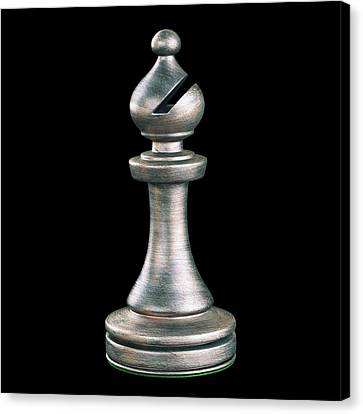 Bishop Chess Piece Canvas Print