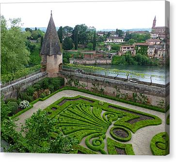 Bishop Garden In Albi France Canvas Print