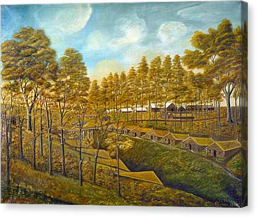 Bishop Hill Colony Canvas Print by Granger