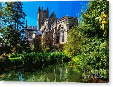 Bishops Garden Behind Cathedral Canvas Print