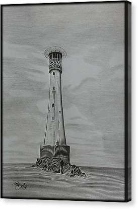 Bishops Rock Lighthouse Canvas Print by Tony Clark
