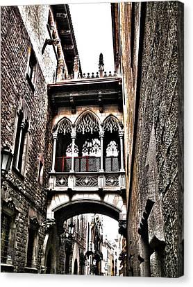 Bishop's Street - Barcelona Canvas Print by Juergen Weiss