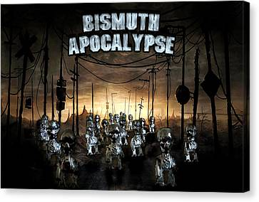 Canvas Print featuring the photograph Bismuth Apocalypse by Tarey Potter