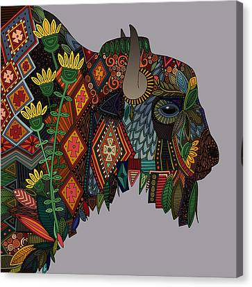 Bison Canvas Print - Bison Heather by Sharon Turner