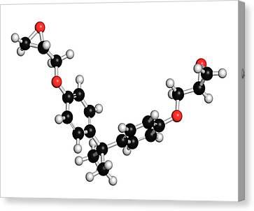 Bisphenol A Diglycidyl Ether Molecule Canvas Print by Molekuul