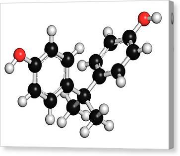 Bisphenol A Plastic Pollutant Molecule Canvas Print by Molekuul