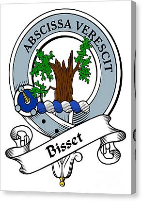 Bisset Clan Badge Canvas Print by Heraldry