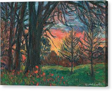 Bisset Park Sunrise Canvas Print by Kendall Kessler