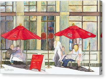 Bistro Canvas Print by Sandy Linden