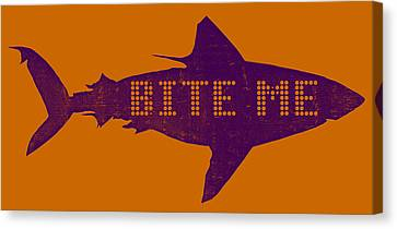 Bite Me Canvas Print by Michelle Calkins