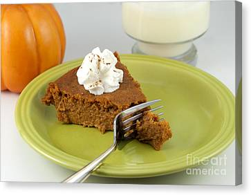 Bite Of Pumpkin Pie Canvas Print by Juli Scalzi