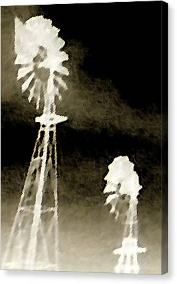 Canvas Print featuring the photograph Bits Of Dust In The Wind by Max Mullins