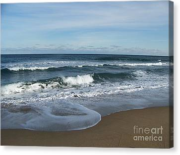 Canvas Print featuring the photograph Winter Beach  by Eunice Miller