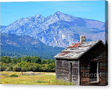 Canvas Print featuring the photograph Bitterroot Valley Cabin by Joseph J Stevens