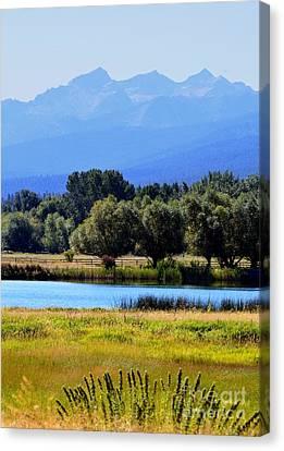 Canvas Print featuring the photograph Bitterroot Valley Montana by Joseph J Stevens