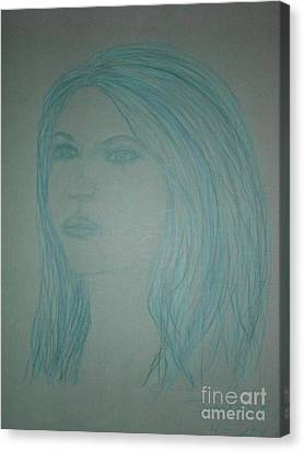 Biviana In Blue Canvas Print by James Eye