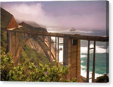 Bixby Bridge At Big Sur Canvas Print