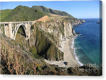 Bixby Bridge Canvas Print by James B Toy
