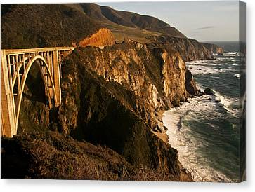 Canvas Print featuring the photograph Bixby Bridge by Lee Kirchhevel