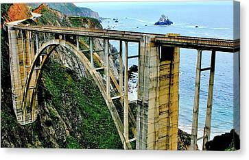 Pch Canvas Print - Bixby Creek Bridge Panorama by Benjamin Yeager