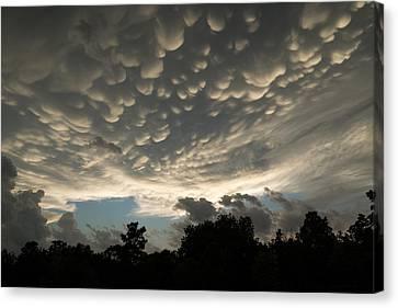 Turbulent Skies Canvas Print - Bizarre Mammatus Clouds In Toronto by Georgia Mizuleva