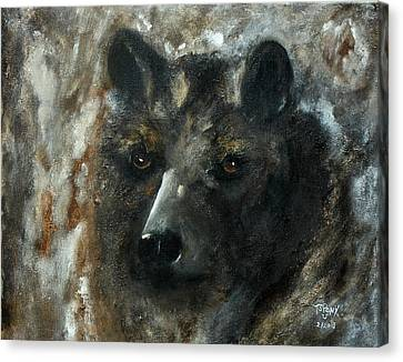 Canvas Print featuring the painting Bjomolf - Bear Wolf by Barbie Batson