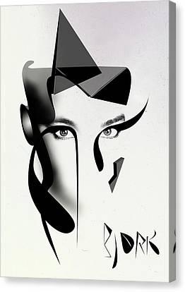 Bjork Canvas Print by PandaGunda
