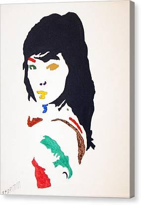 Bjork Canvas Print by Stormm Bradshaw
