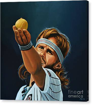 Slam Canvas Print - Bjorn Borg by Paul Meijering