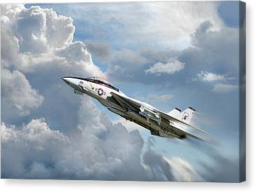 Black Aces High Canvas Print by Peter Chilelli