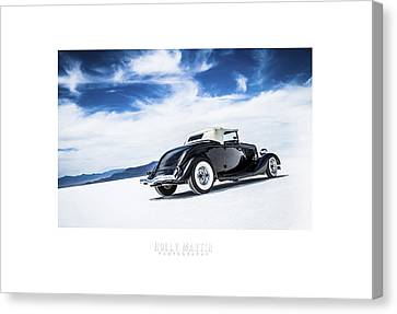 Salt Flats Canvas Print - Black And Blue by Holly Martin