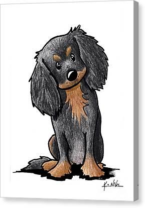 Cavy Canvas Print - Black And Brown Ckc Spaniel by Kim Niles
