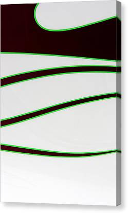 Canvas Print featuring the photograph Black And Green by Joe Kozlowski