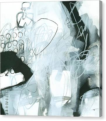 On Wood Canvas Print - Black And White #1 by Jane Davies